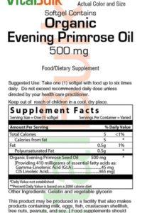 Organic Evening Primrose Oil 500 mg 100 Softgel