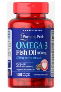 Омега-3 Рыбий жир 1000 мг (300 мг активного омега-3)