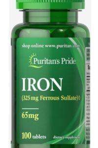 Железо -65 мкг - 100 таблеток