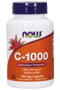 Now Foods, C-1000, с 100 мг биофлавоноидов, 100 растительных капсул