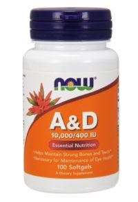 A&D, 10 000/400 МЕ, 100 гелевых капсул