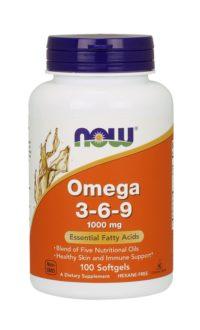 Now Foods, Омега 3-6-9, 1000 мг, 100 мягких капсул