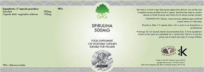 Спирулина 500 мг 120 капсул